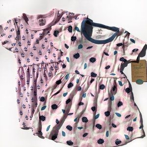 NWT Touched by Nature 6-9 M Organic Cotton Dresses
